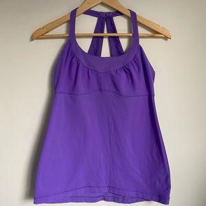 Lululemon purple workout tank top built in bra AU8